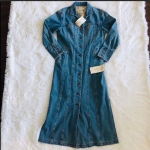 J. Jill Denim Long Jean Jacket New with Tags
